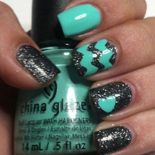 Floral Printed Nail Design