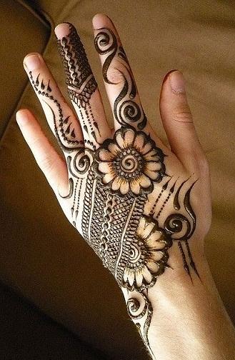 floral arabic mehendi design