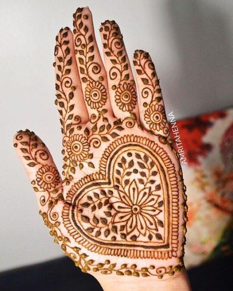 Simple Half Hand Arabic Design