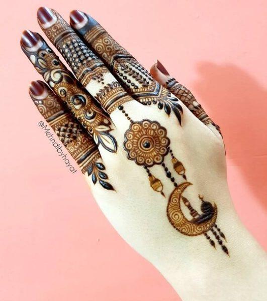 Eid Back Hand Arabic Design