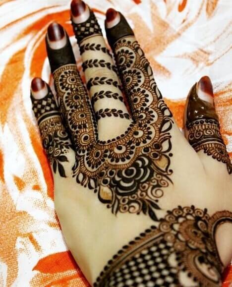 Floral Back Hand Arabic Design