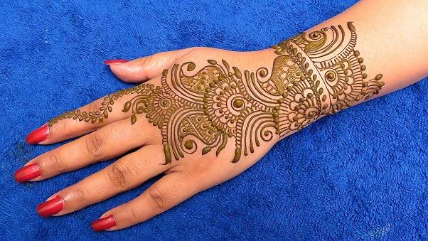 Back Side Arabic Mehndi Design