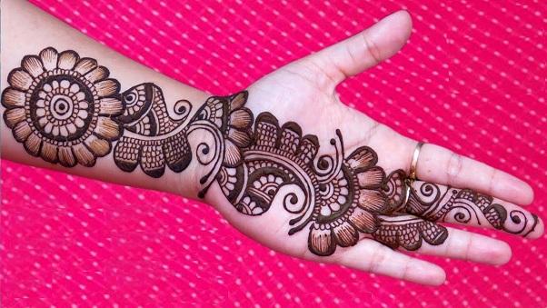 Flower Arabic Mehndi Design