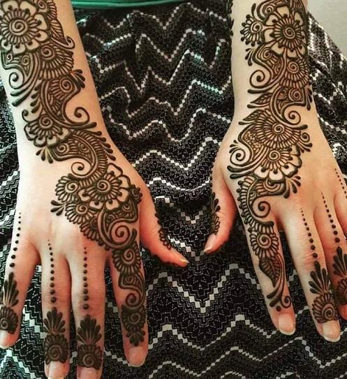 Hand Arabic Mehndi Design