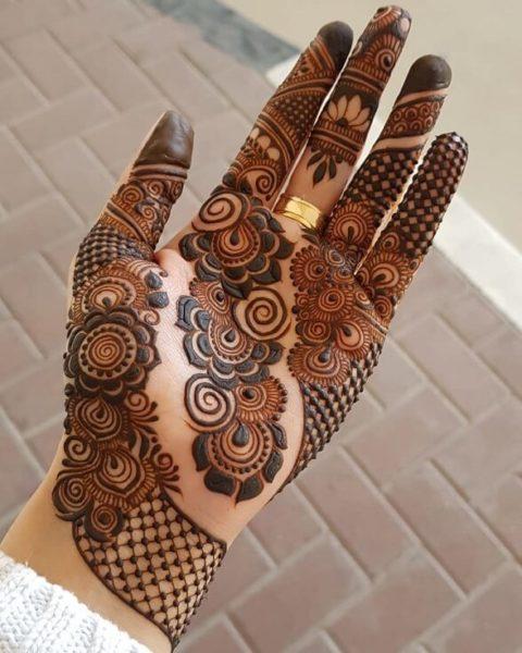 Floral Half Hand Arabic Design