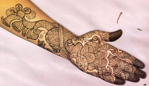 simple arabic mehendi designs