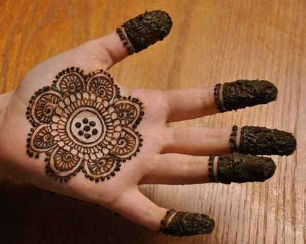 Single Palm Henna Art