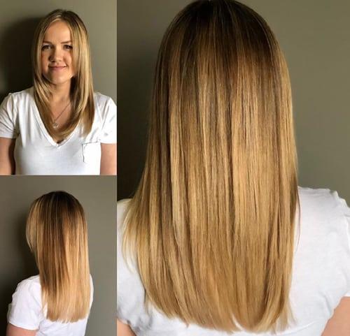 Honey Color Balayage Long Hair