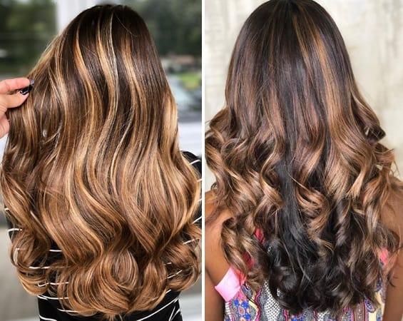 Caramel Balayage on Long Hair