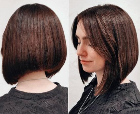 Dark Brown Balayage with Short Hair