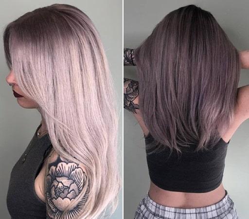 Grey Balayage with Long Hair