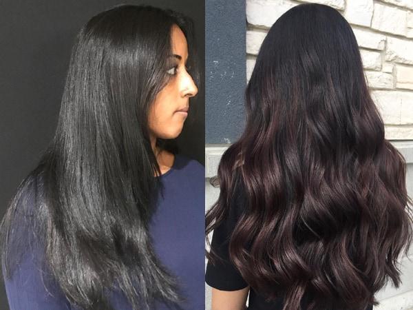 Balayage Black with Long Hair