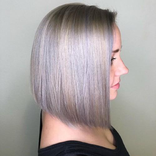 Ash Balayage for Medium Hair