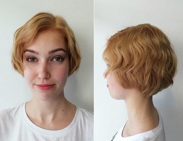 Honey Color Balayage Short Hair
