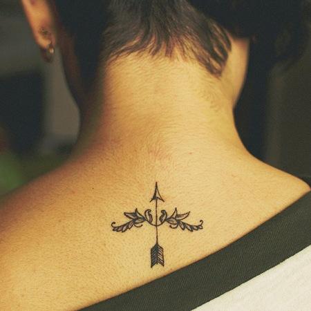 Bow And Arrow Sagittarius Tattoo Design