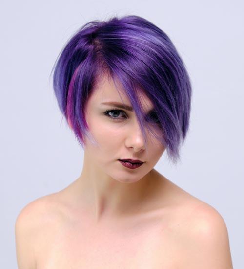 Blue Short Layered Haircut for Thin Hair