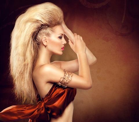 Up-do Hair Mohawk Style