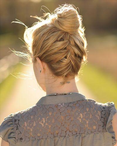Updo Hairstyles for Medium Hair 7