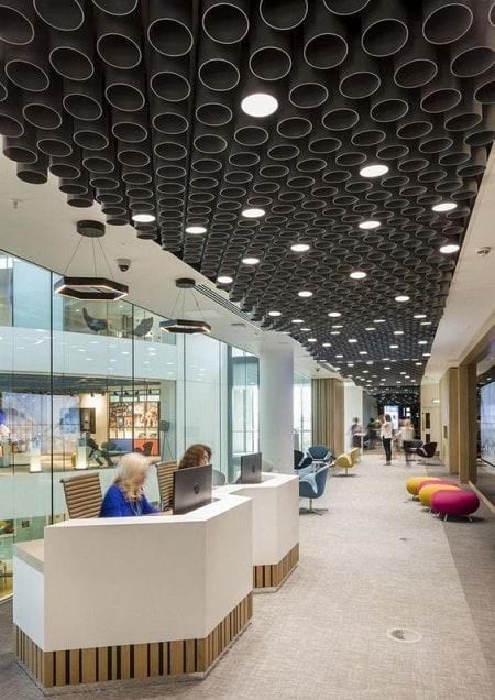 Office Reception False Ceiling Design