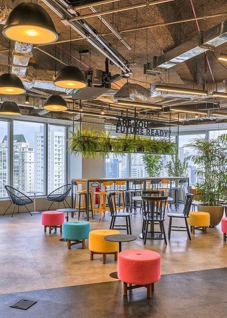 Office Open Ceiling Design
