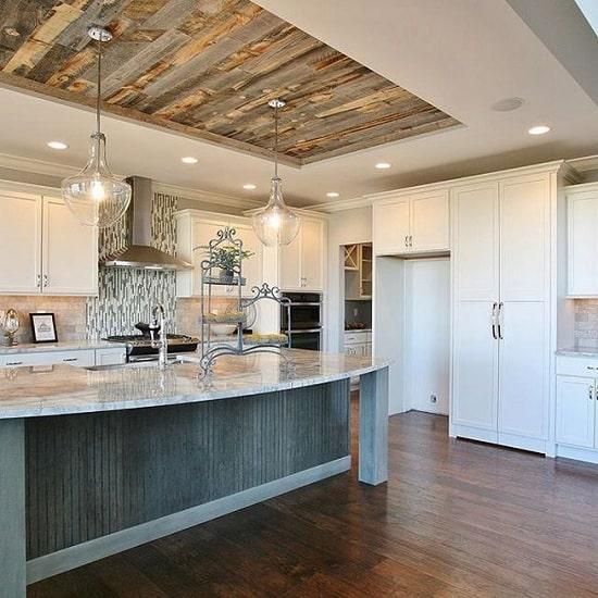 Wooden Kitchen Ceiling Designs