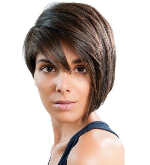 Bangs with an Asymmetric Haircut