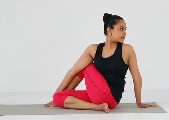 Ardha Matsyendrasana Posture - upper ab fat burning exercises