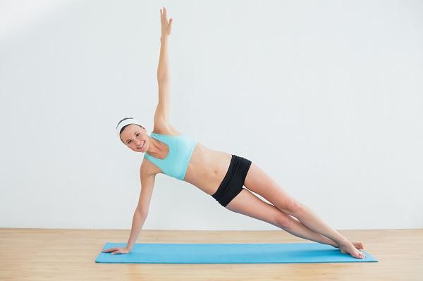 Side Plank - upper belly fat workout
