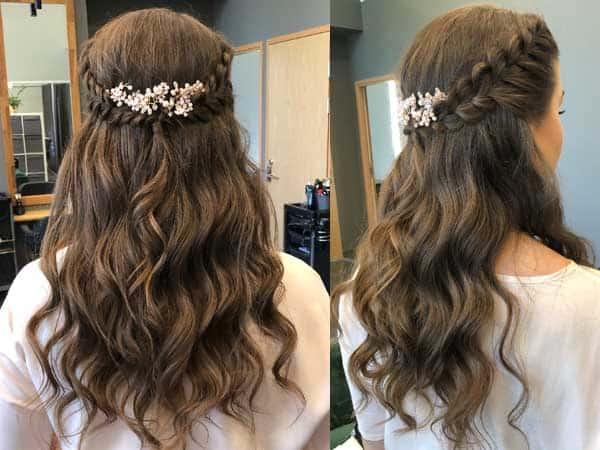 Bridal Half Ponytail