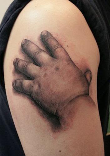 Babys hand 3d Tattoo