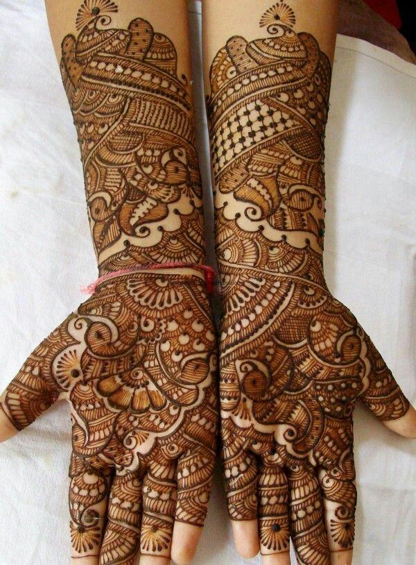 Bridal Peacock Mehndi Design