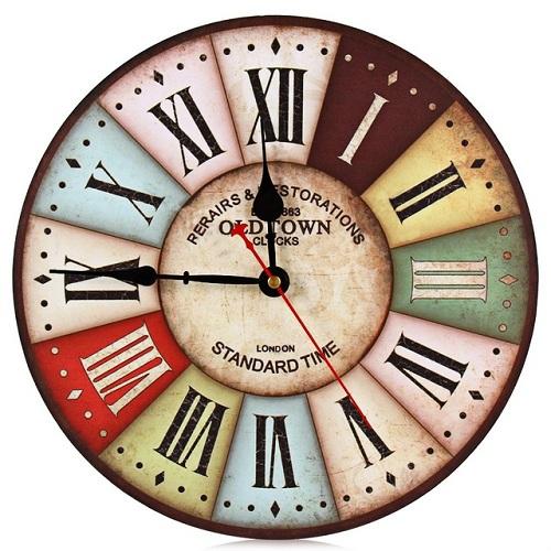 Wooden Vintage Quartz Clock