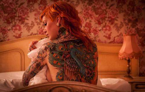 Peacock Full Body Tattoo