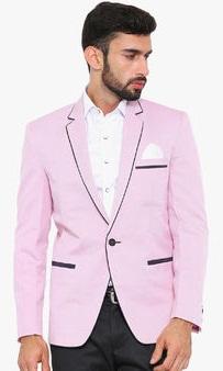 Ennoble Pink Solid Blazer