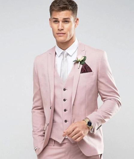 Pink Tailored Blazer Men
