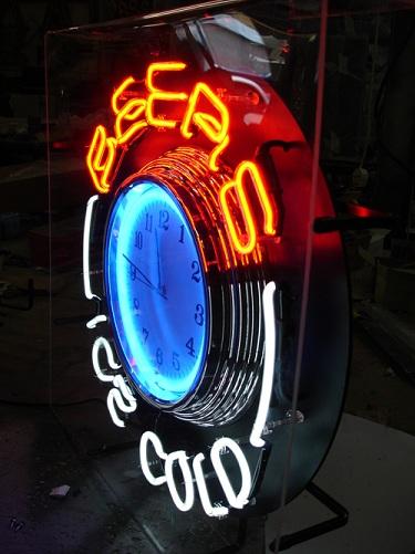 Neon Beer Clocks