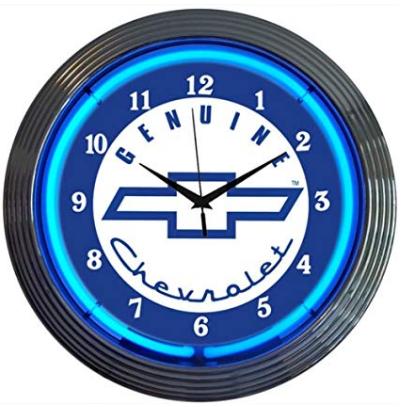 Chevy Neon Clock