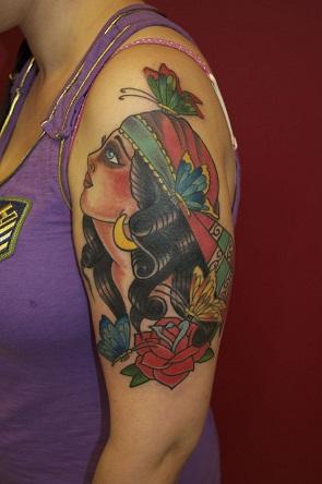 Gypsy Bicep Tattoo Design