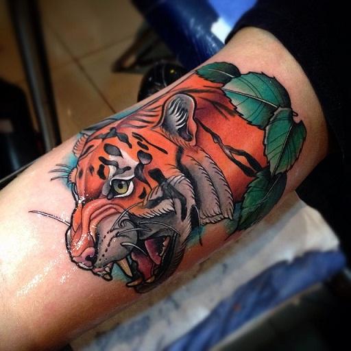 Powerful Bicep Tattoo Design