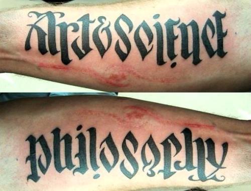 Subject names Tattoo