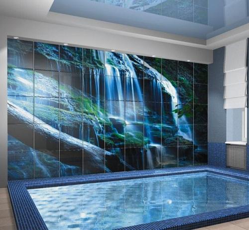 Designer Stylish Bathroom Tile