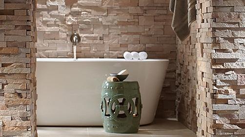 Stone structured Bathroom Tile