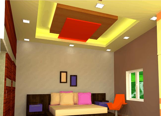Gypsum Ceiling Design for Bedroom