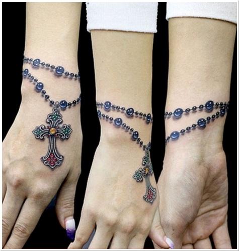 wrist bracelet tattoos