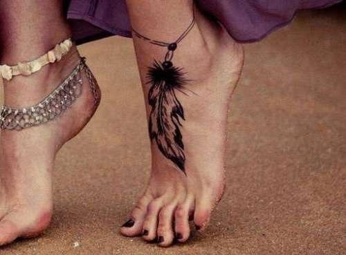 Ankle Bracelet Tattoo designs