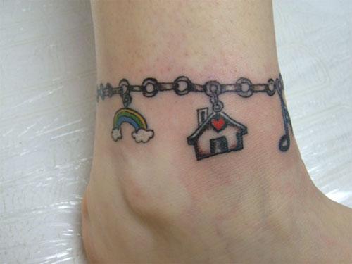 charm bracelet tattoo