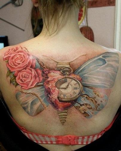 butterfly-clock-tattoo-14