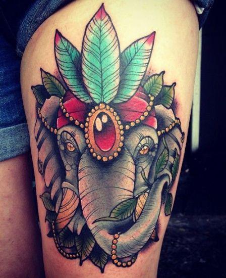 Elephant Tattoo 7