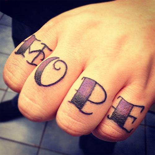 Hope Finger Tattoo Design