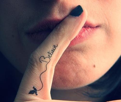 Finger Tattoo Designs 4